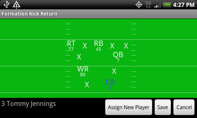 Formation Kick Return